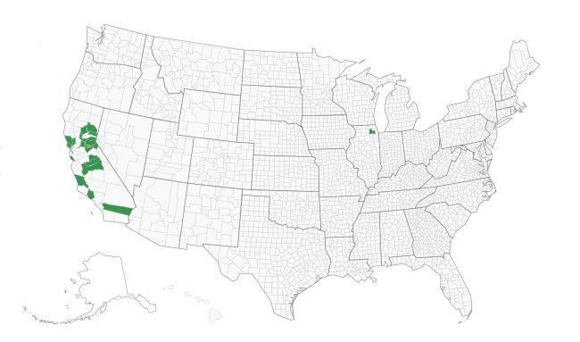 DFM Associates EIMS and Vote Center App usage map 2020