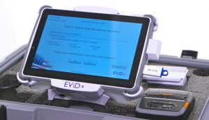 EViD Edge electronic poll book voter information screen