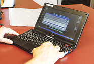 Scott County electronic poll book on laptop