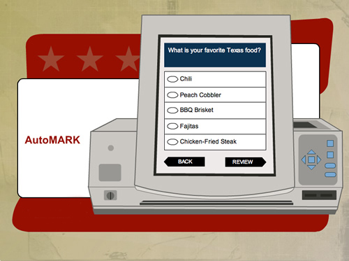 AutoMARK illustration of mark ballot screen