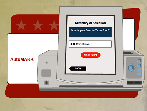AutoMARK illustration of summary ballot screen