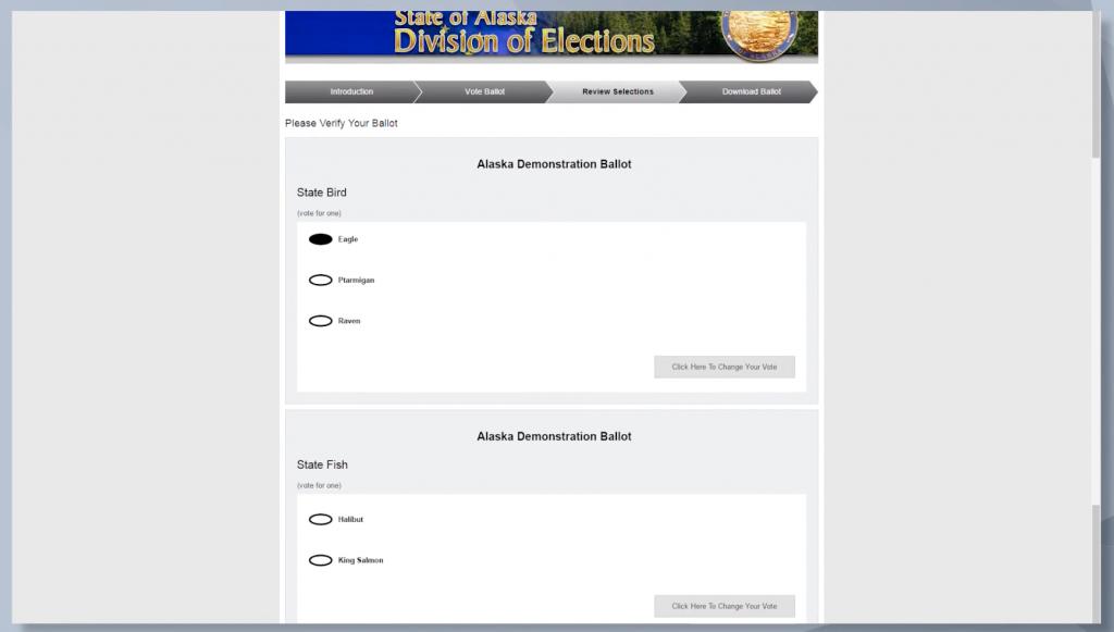 Scytl BallotSafe ballot marking in Alaska