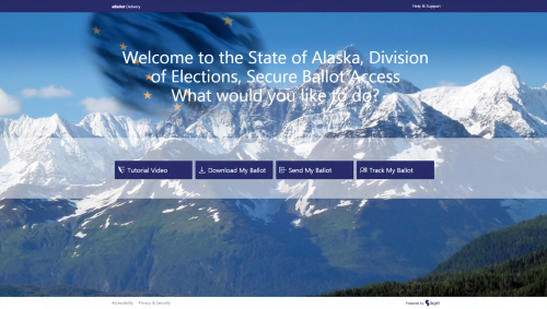 Scytl BallotSafe Alaska welcome screen